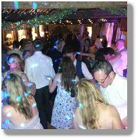 Wedding Dj plays great disco music